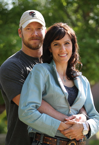 Chris Kyle with wife, Taya. Photo courtesy of Ft. Worth Star-Telegram