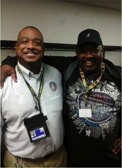 Grady (left) continues to help fellow veterans in need.