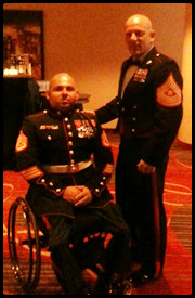 GySgt Tejada (left) with SgtMaj VanFonda