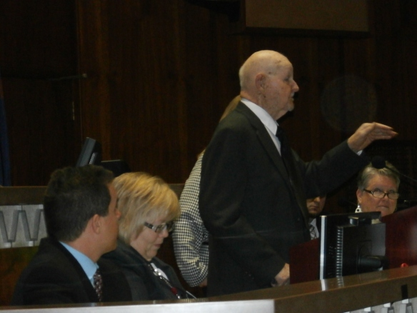 Lewis Taylor during his opening for Arizona Congress.